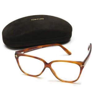 TOM FORD Italy TF5302 053 Rectangle glasses Havana/clear Glasses sunglasses