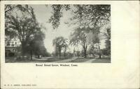Windsor CT Broad St. Green 1908 Used Postcard