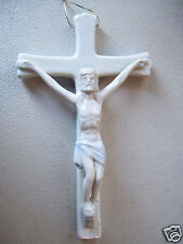 "Christ On The Cross Ornament Wall Hanging Collectible 6.5"" Ceramic figurine"