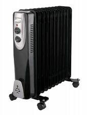 Ölradiator Rippen 2500 Watt Schwarz Radiator Elektroheizung Heizgerät Heizung
