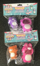 Lotx 2 Soft'N Slo Squishies Bunny Tiger & Racoon Bunny Costume Cutiez Series 1