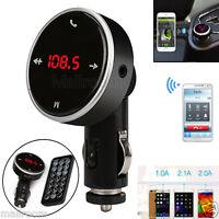 Bluetooth LCD Auto FM Transmitter Freisprechanlage Car MP3 Player USB SD MMC KFZ