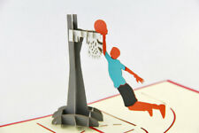 3D Pop Up Greeting Kirigami Card Congratulations Basketball lover Gifts Handmade