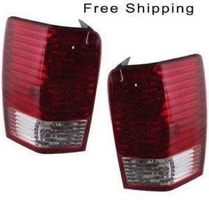 Tail Lamp Lens and Housing Set of 2 LH & RH Side Fits Chrysler Aspen 2007-2009