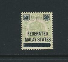 FEDERATED MALAY STATES 1900, 50c VF USED SG#8 (SEE BELOW)