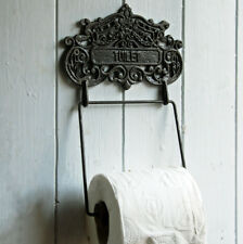 Deco vintage style wall mounted toilet holder