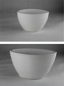 Blumentopf Übertopf Bumenschale Oval Schmal Weiß 3D Effekt 2 Größen