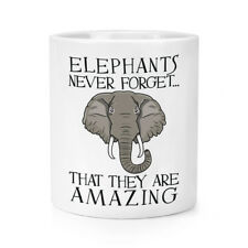 Elephants Never Forget That They Are Amazing Makeup Brush Pencil Pot - Funny