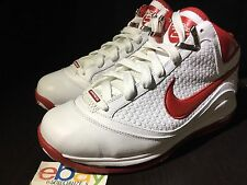 Nike Air Max Lebron VII 7 NFW White Varsity Red 383578-161 Sz 9 DS Woven