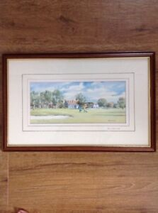The Channels Golf Course by Denis Pannett Signed Limited Edition