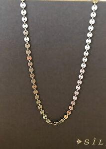 "Silpada N1952 Confetti Disc Necklace 18"" Long"