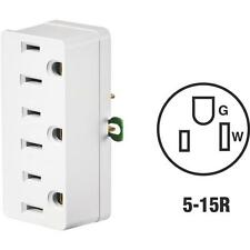 100 Pk Leviton White 15A 125V NEMA 5-15R Grounded Three Outlet Tap 002-00698-00W