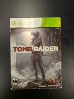 Tomb Raider Steel book Edition Xbox 360 Complete CIB Tested Microsoft