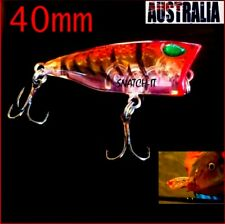 1 x  WHITING POPPER FISHING LURES HARD BODY 40MM POPPERS BREAM FLATHEAD TOPWATER