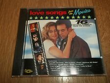 VARIOUS - LOVE SONGS FROM THE MOVIES - 16 TRACK CD ALBUM AUSTRALIA EXCELLENT