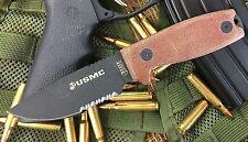 Elite Tactical USMC Rat 3 Style Marines Fixed Blade Knife M-1022TN With Sheath