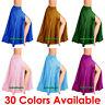 Satin 2 Side Slit Full Skirts Belly Dance Gypsy Tribal Costume 9 Yard Boho Jupe