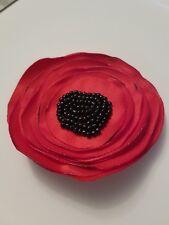 Broche de flor de amapola Tela Aprox 7 cm hecho a mano Rememberance día