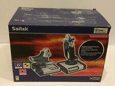Saitek X52 Flight Simulator System Controller Throttle and Stick For PC - NIB
