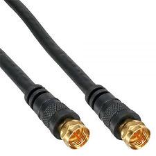 SAT-Anschlusskabel, 2x geschirmt, 2x F-Stecker, 85dB, schwarz, 3m