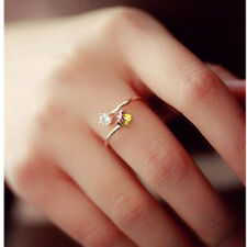 Vintage Rose Gold Ring Multicolor&White Zircon Rings Wedding Party Opening Rings