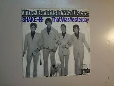 """BRITISH WALKERS: Shake 2:17-That Was Yesterday 2:24-Germany 7"""" 1967 Ariola PSL"""