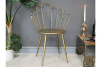 Petal Shaped Metal Occasional Chair | Gold