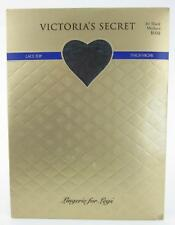 NEW In Package! Victoria's Secret Lace Top Thigh Highs Jet Black Size Medium