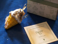 Charming Tails Snow Cone Figural Fitz & Floyd Xmas Ornament W/ Original Box
