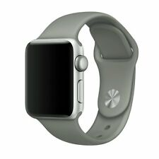 Sport Band for Apple Watch, Soft Silicone Strap (Gray)