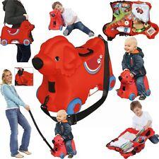 Koffer Trolley für Kinder Flug Handgepäck+Griff+Gurt 15 Liter Stauraum v.Big