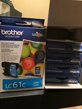 NEW Brother LC61C LC61 Cyan Ink Cartridge Genuine! Pack Of 5