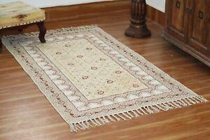 Hand block Printed Area Rugs Cotton Dhurrie living Room Rug Yoga Rug Home Carpet
