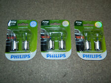 (3) NEW PACKS OF 2 PHILIPS P21W TAIL LIGHT BULBS P21WLLB2 FOG DOME BACKUP TURN