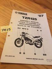 Yamaha TZR125 1987 TZR 125 instruction preparation setup manuel montage moto