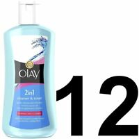 12 Olay Essentials Facial Cleanser & Toner 2-In-1 4 Normal Dry Combo Skin 200ml