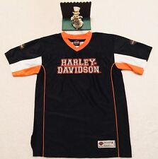 Youth HARLEY DAVIDSON Sz 16/18 L Large Black Tee Shirt. Very Nice. Minimal Wear