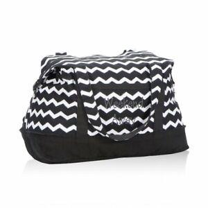 Thirty one Retro Metro Weekender travel Duffel bag 31 gift in Black Chevron new