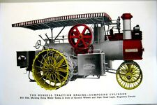 1914 Russell & Co.Traction Engine Compound Cylinder Steam Driven Tractor Poster