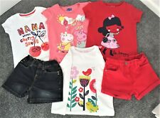 Bundle of girls clothes - age 5-6 years (shorts x 2 & tops x 4)