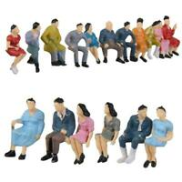 HO Scale 1:87 Painted Model People Figure / Seated Baby Kids New Passenger Q0R9