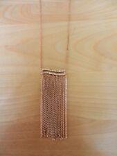 Michael Kors RoseGoldtone Cubic Zirconia Chain Fringe Necklace