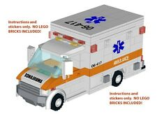 Instructions Stickers 4 LEGO Ambulance 60074 10185 10133