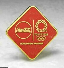 OLYMPIC PINS BADGE 2020 TOKYO JAPAN COKE COCA COLA WORLDWIDE SPONSOR DIAMOND