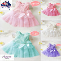 New-born baby toddler girl party girl dress 0-12month AU stock
