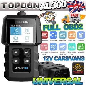 AL300 Car OBD2 OBDII Fault Code Reader Engine Diagnostic Scanner Reset Tools UK