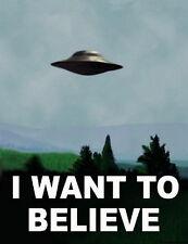 "20 I Want To Believe - X Files Art Movie Film UFO 14""x18"" Poster"
