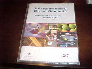 2004 USTA National Men's Clay Court Championship Tennis Program