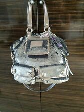 Rare XL COACH POPPY SPOTLIGHT Sequined Titan Silver Purse