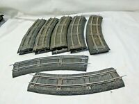 12 SECTIONS  AMERICAN FLYER 727 CURVE WIDE TIE BLACK ROADBED WITH GOOD TRACK